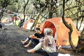 camping pantai gua cemara