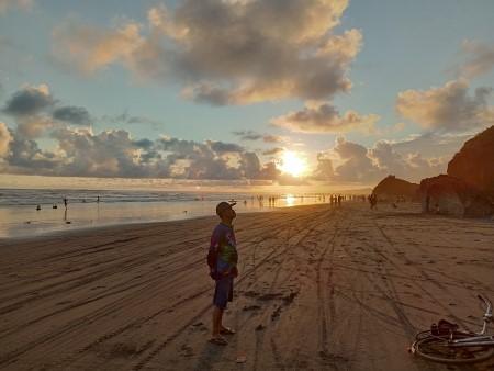 sunset pantai parangtritis